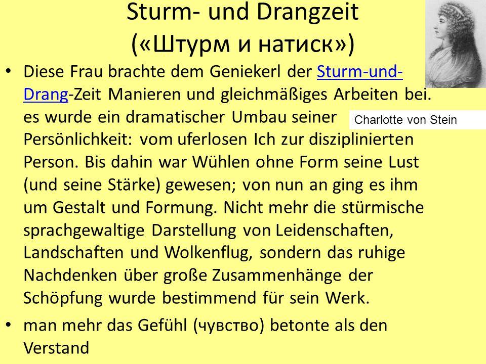 Sturm- und Drangzeit («Штурм и натиск»)
