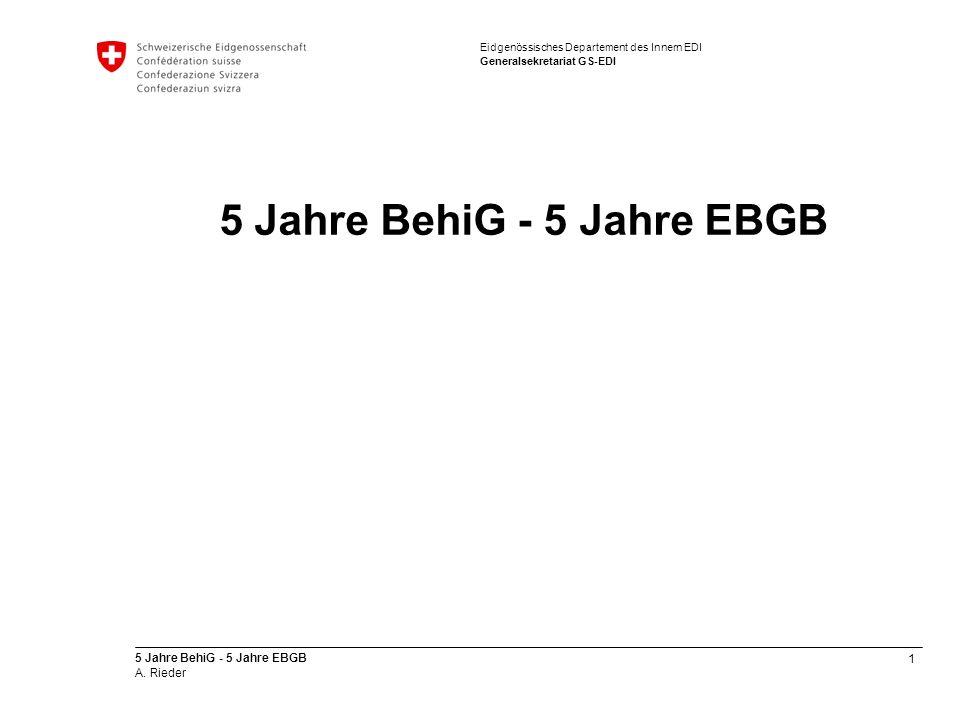 5 Jahre BehiG - 5 Jahre EBGB