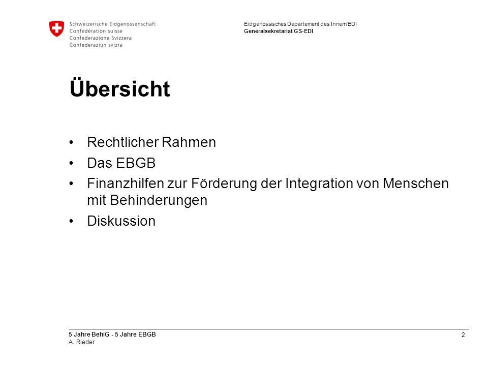 Übersicht Rechtlicher Rahmen Das EBGB