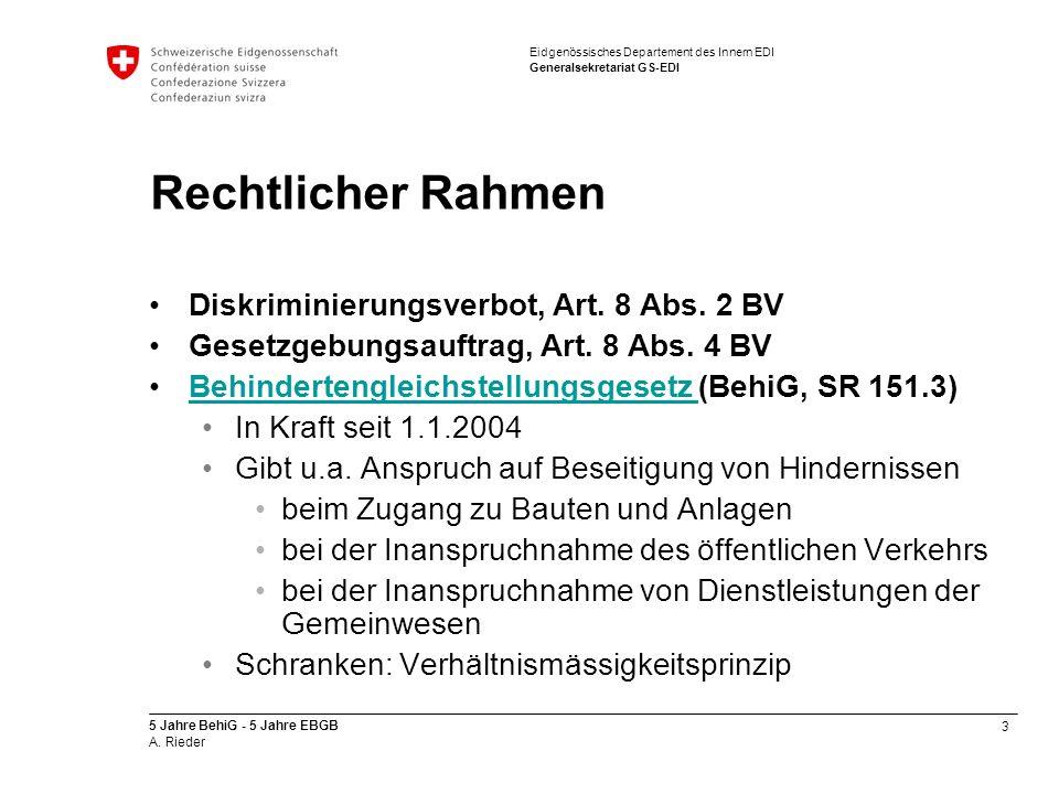 Rechtlicher Rahmen Diskriminierungsverbot, Art. 8 Abs. 2 BV