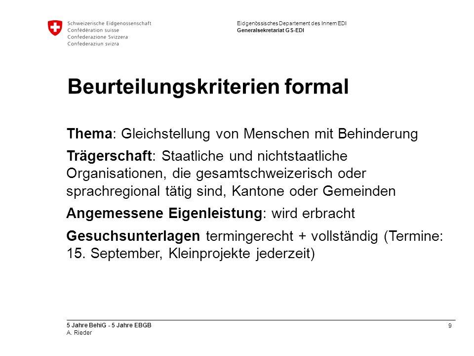 Beurteilungskriterien formal