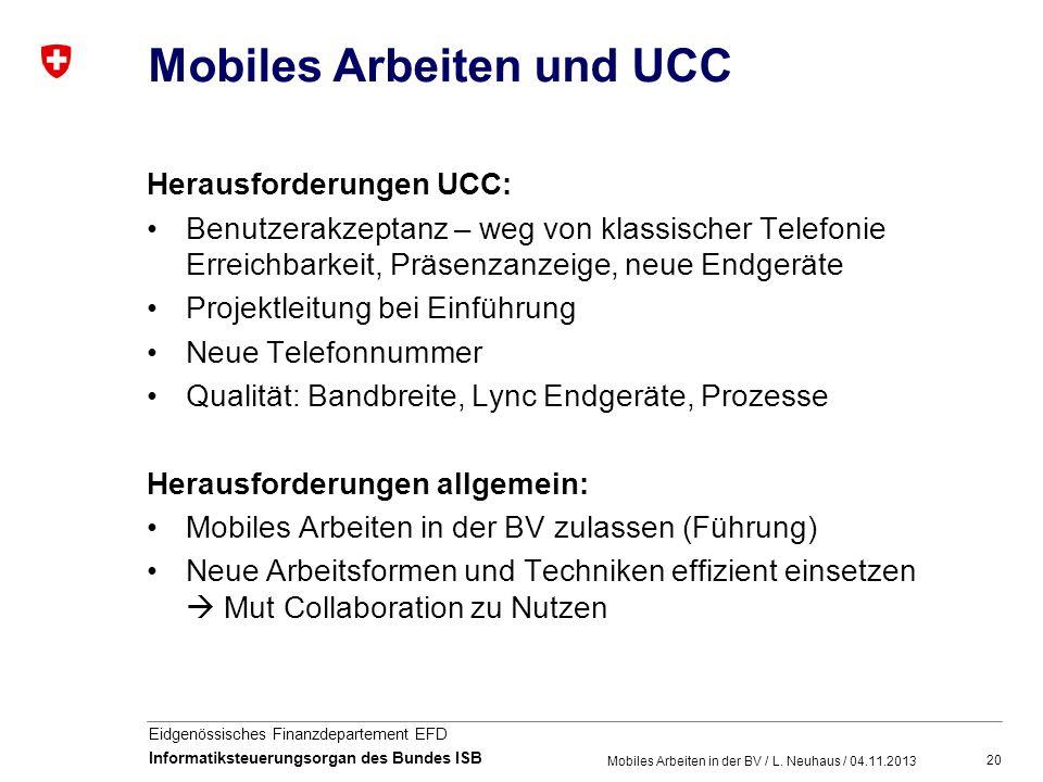 Mobiles Arbeiten und UCC