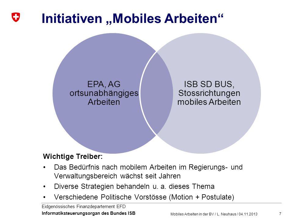"Initiativen ""Mobiles Arbeiten"