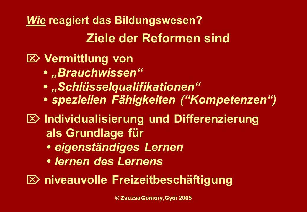 Ziele der Reformen sind