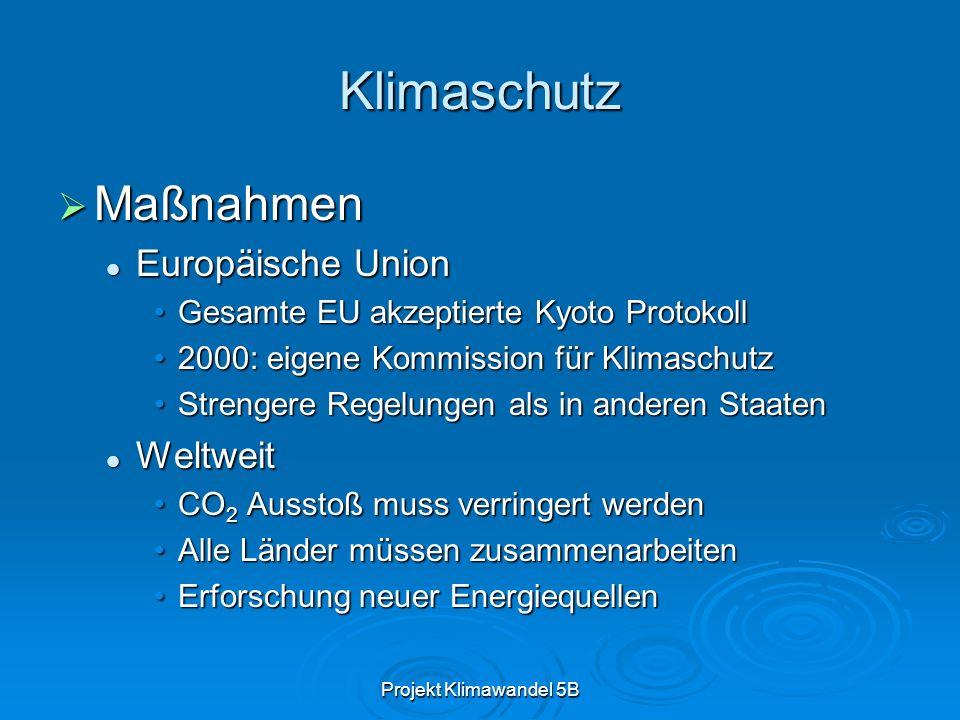 Klimaschutz Maßnahmen Europäische Union Weltweit
