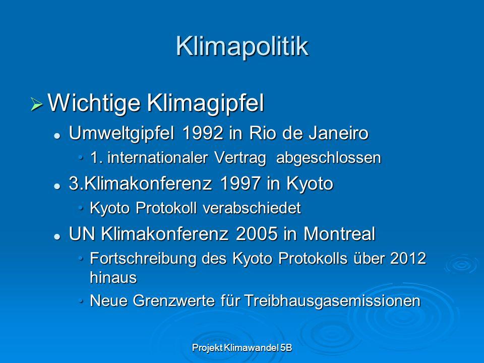 Klimapolitik Wichtige Klimagipfel Umweltgipfel 1992 in Rio de Janeiro