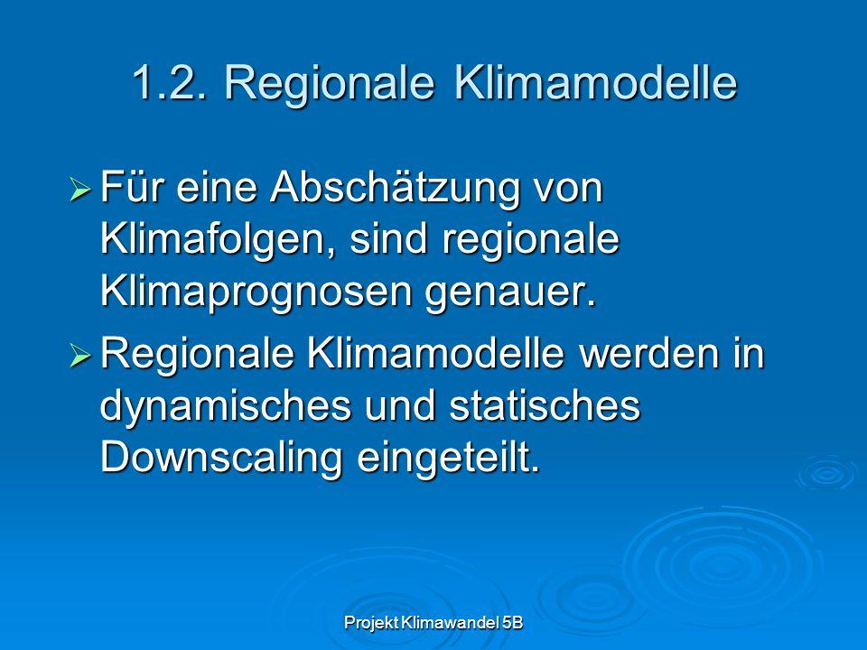 1.2. Regionale Klimamodelle