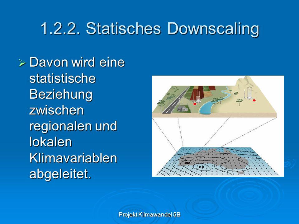 1.2.2. Statisches Downscaling