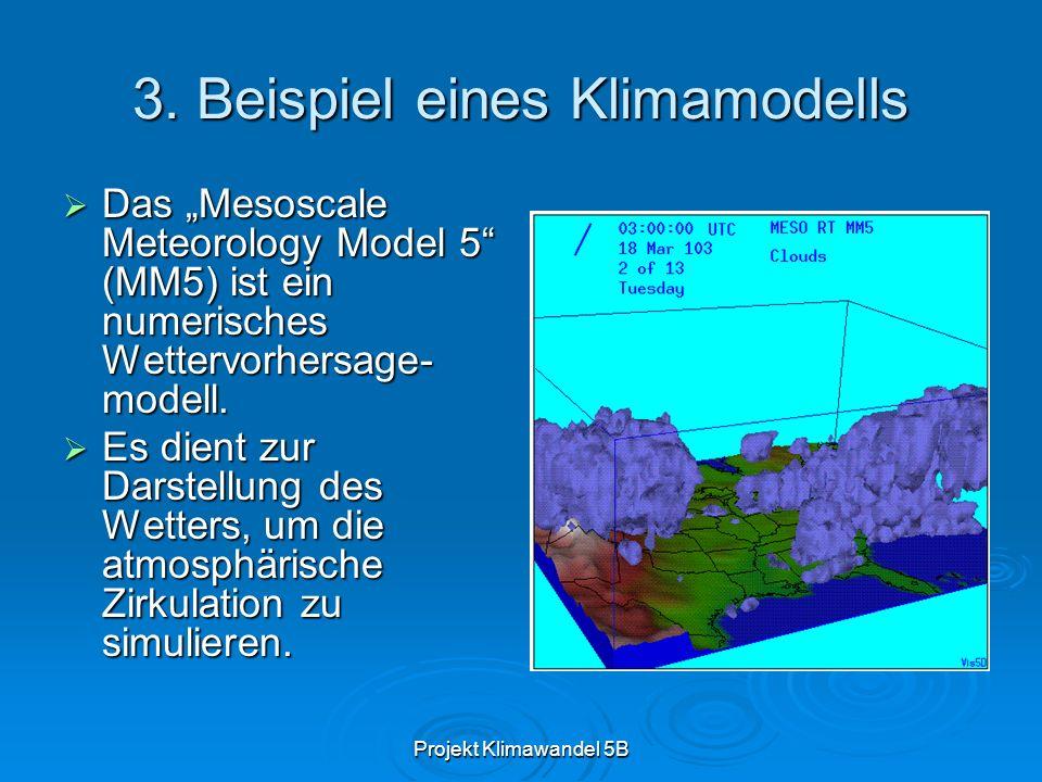 3. Beispiel eines Klimamodells