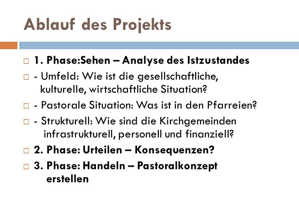 Ablauf des Projekts 1. Phase:Sehen – Analyse des Istzustandes
