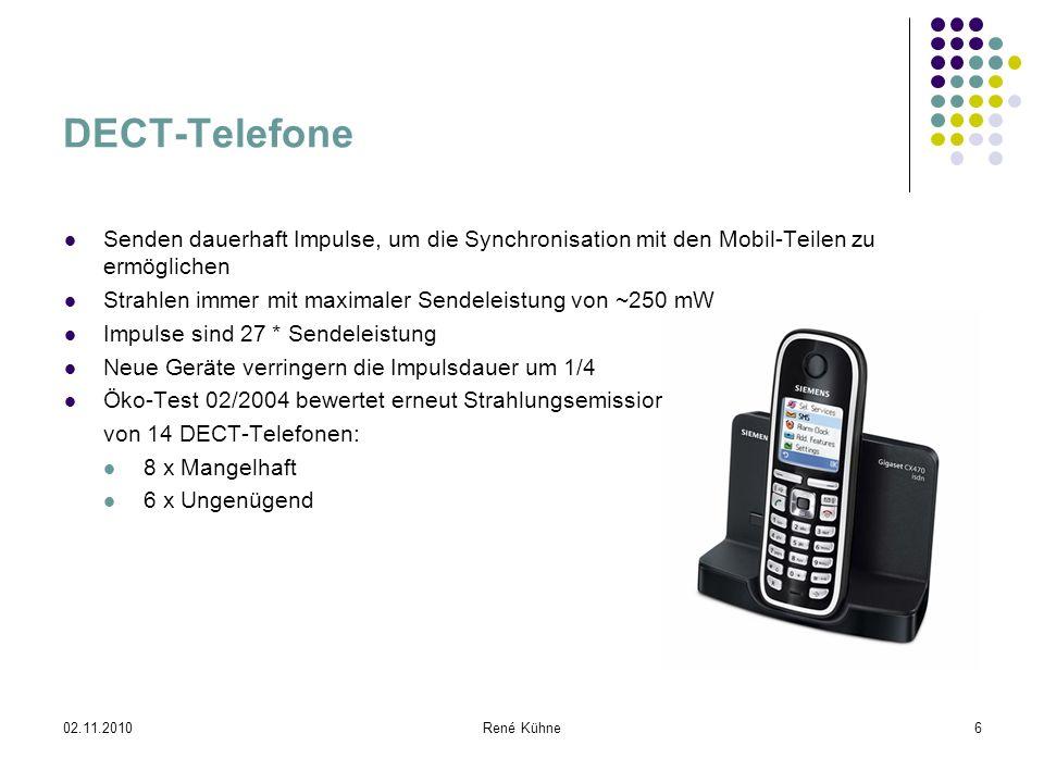 DECT-Telefone Senden dauerhaft Impulse, um die Synchronisation mit den Mobil-Teilen zu ermöglichen.