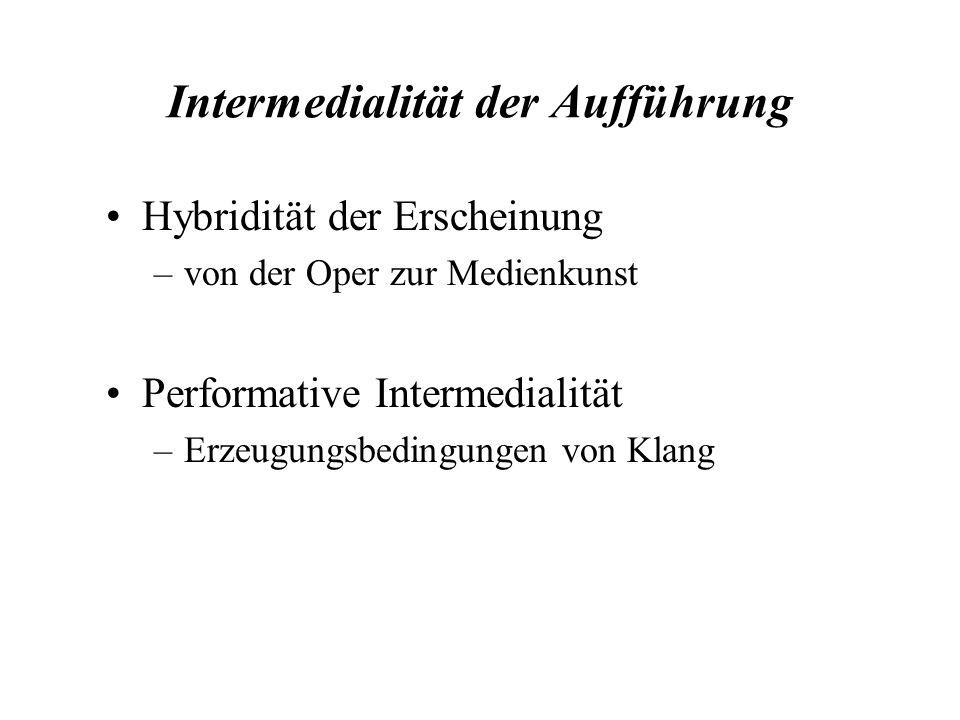Intermedialität der Aufführung