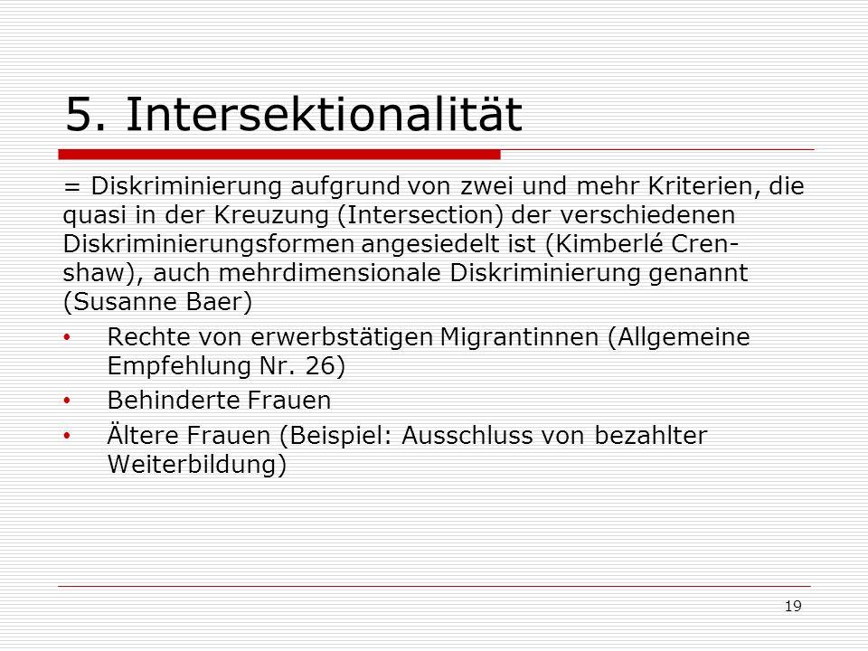 5. Intersektionalität