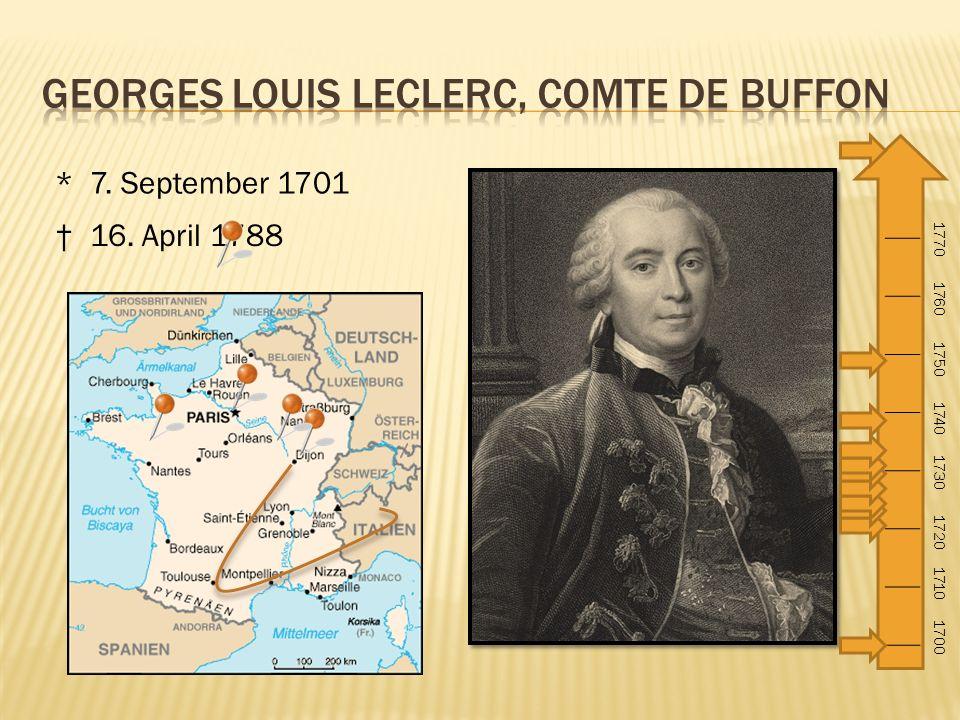 Georges Louis Leclerc, Comte de Buffon
