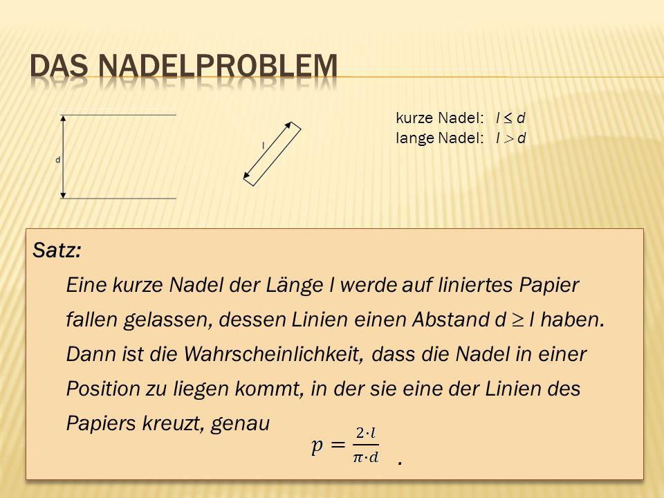 Das Nadelproblem Satz: