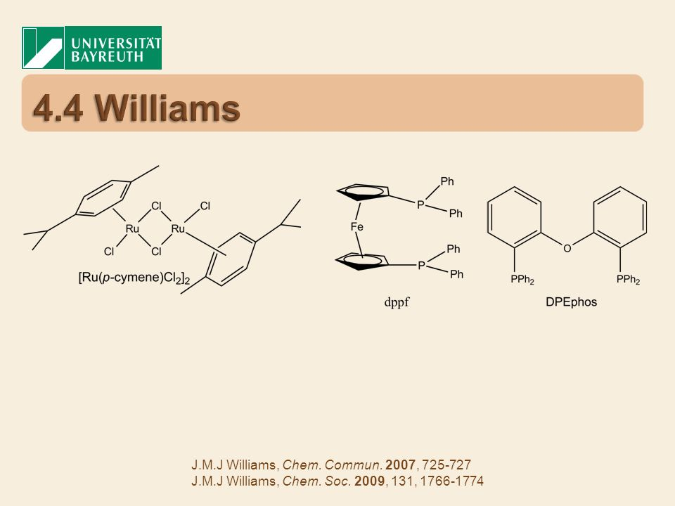 4.4 Williams J.M.J Williams, Chem. Commun. 2007,