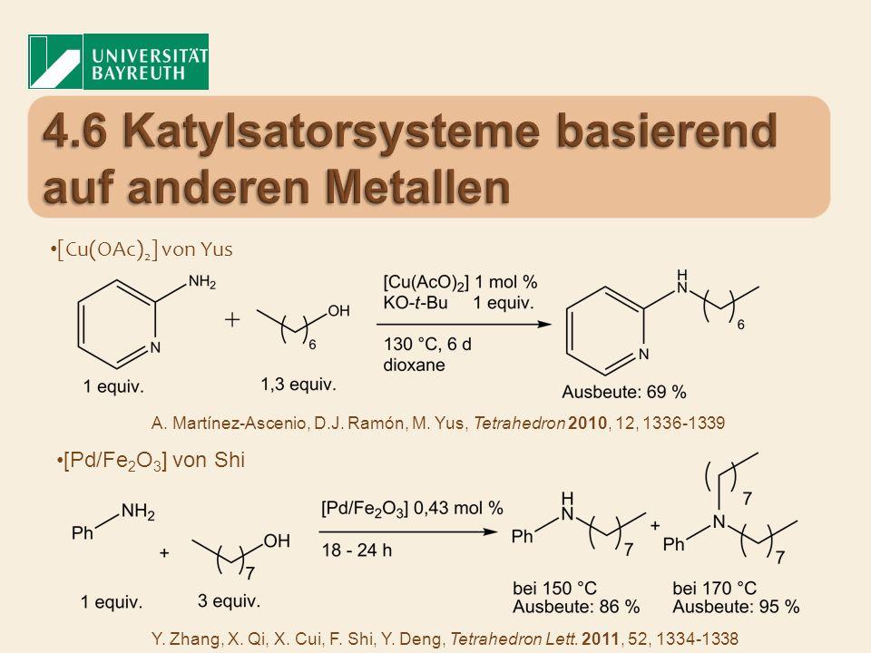 4.6 Katylsatorsysteme basierend auf anderen Metallen