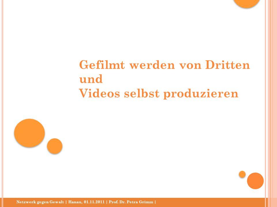 Gefilmt werden von Dritten und Videos selbst produzieren