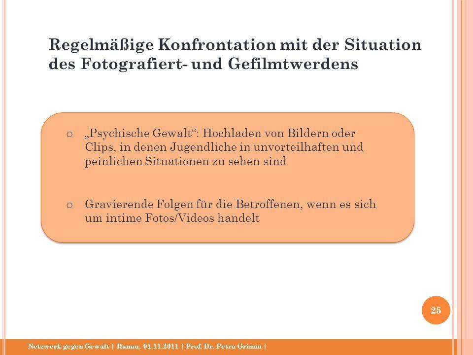 Regelmäßige Konfrontation mit der Situation des Fotografiert- und Gefilmtwerdens