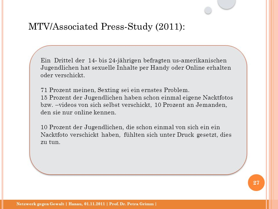 MTV/Associated Press-Study (2011):