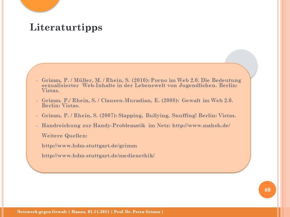 Literaturtipps