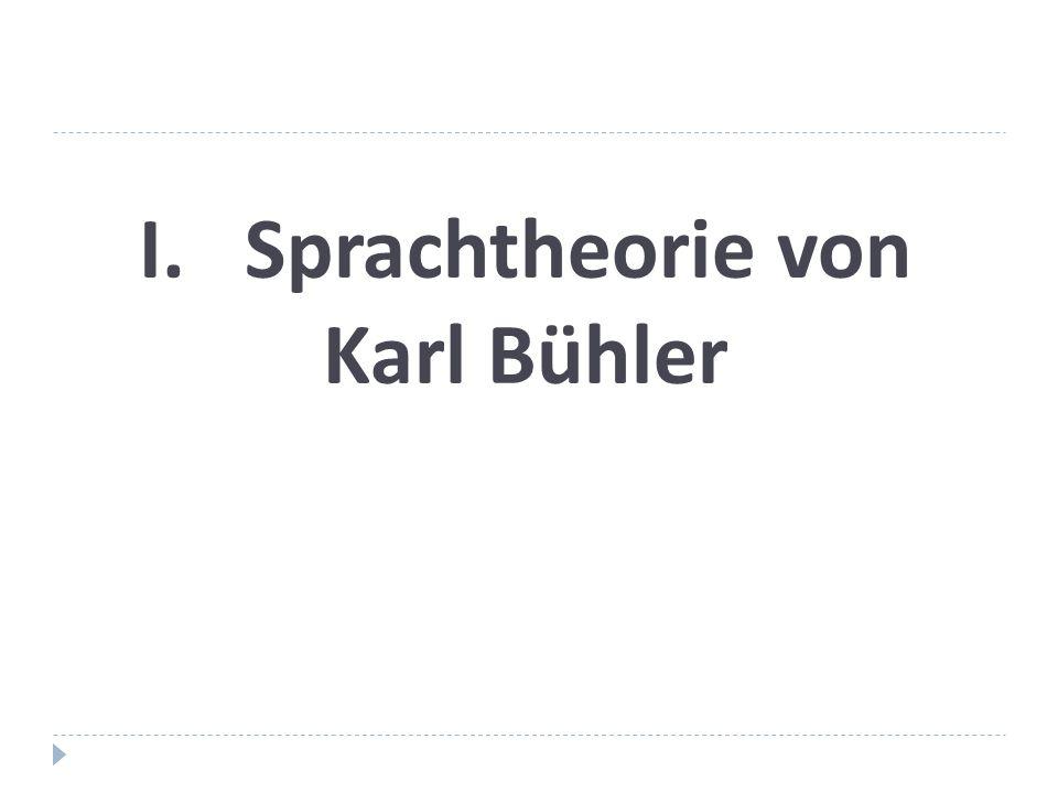I. Sprachtheorie von Karl Bühler