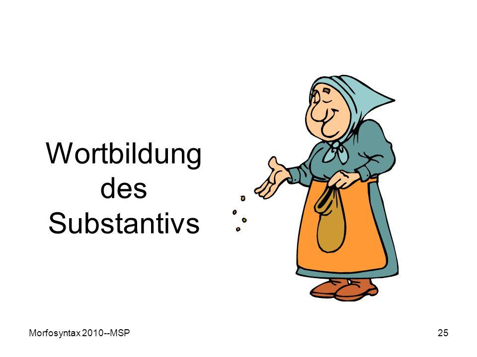 Wortbildung des Substantivs