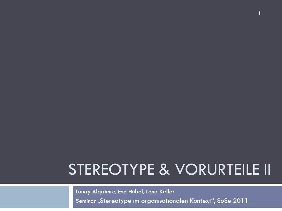 Stereotype & Vorurteile II