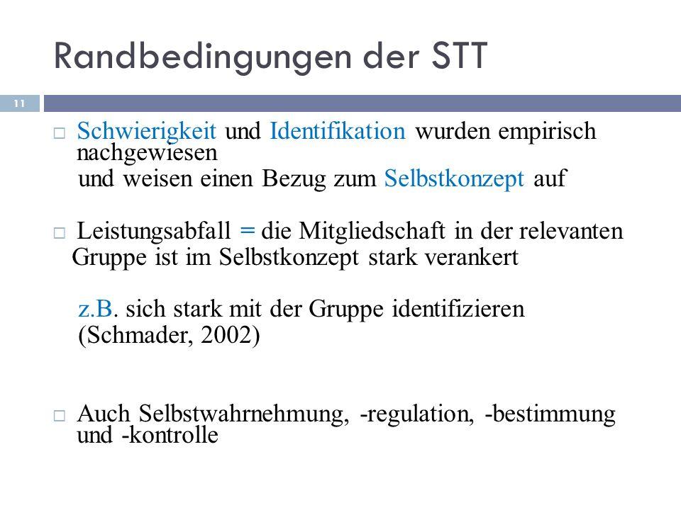 Randbedingungen der STT