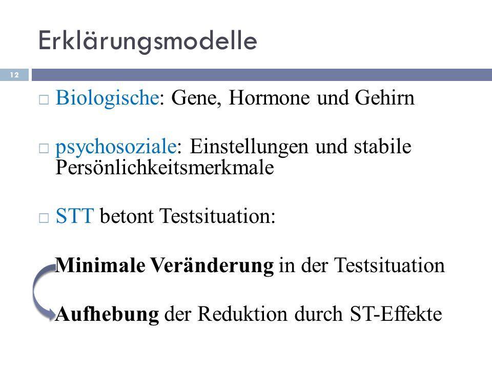 Erklärungsmodelle Biologische: Gene, Hormone und Gehirn