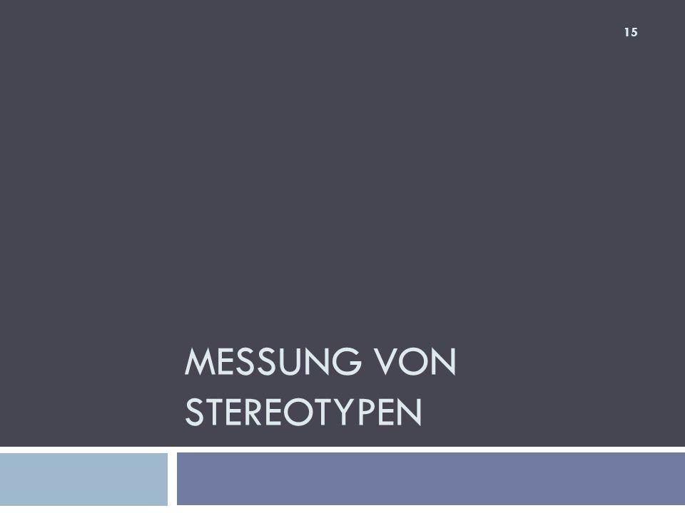 Messung von Stereotypen