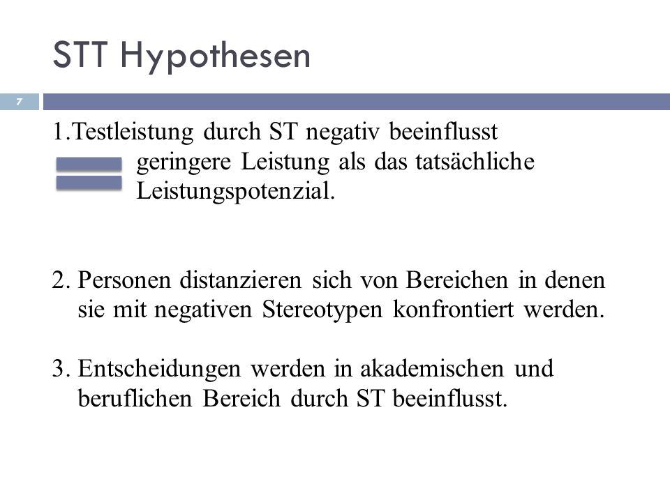 STT Hypothesen