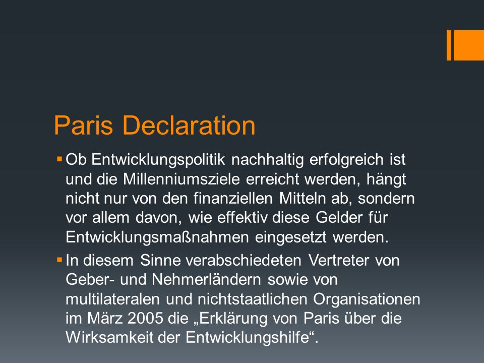 Paris Declaration