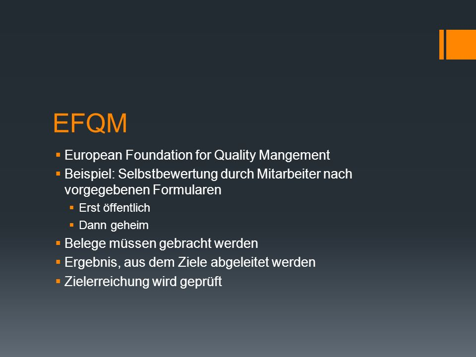 EFQM European Foundation for Quality Mangement