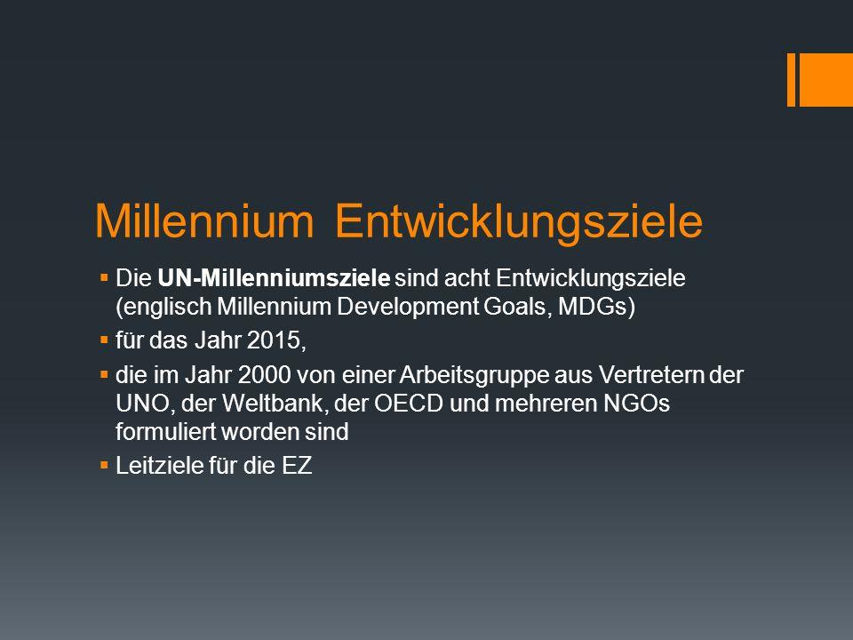 Millennium Entwicklungsziele