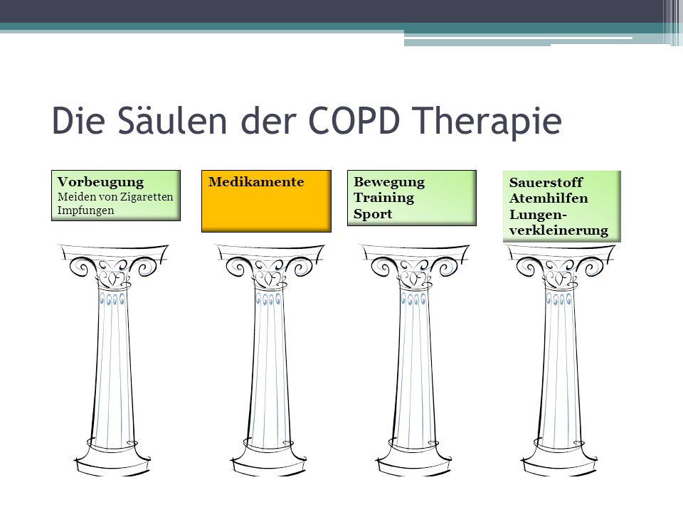 Die Säulen der COPD Therapie