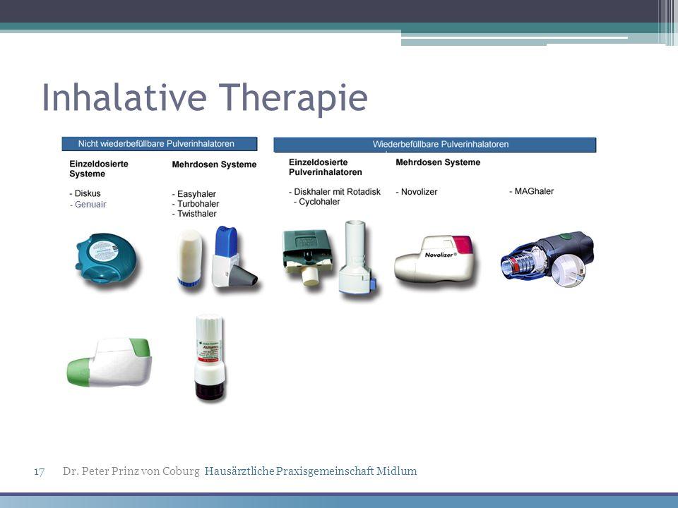 Inhalative Therapie - Genuair Dr. Peter Prinz von Coburg Hausärztliche Praxisgemeinschaft Midlum