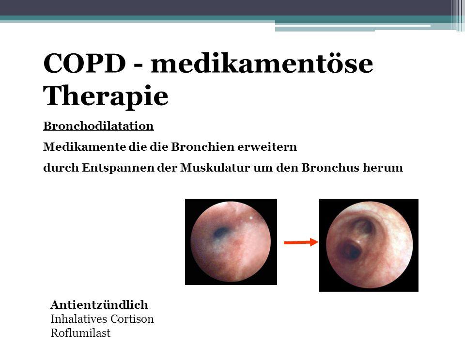 COPD - medikamentöse Therapie