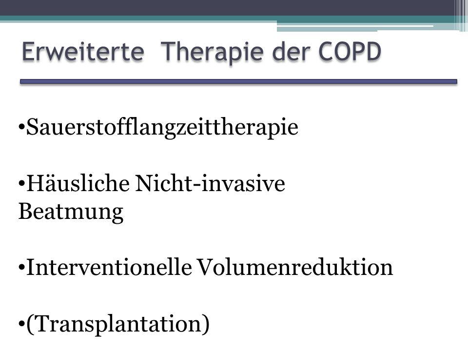 Erweiterte Therapie der COPD
