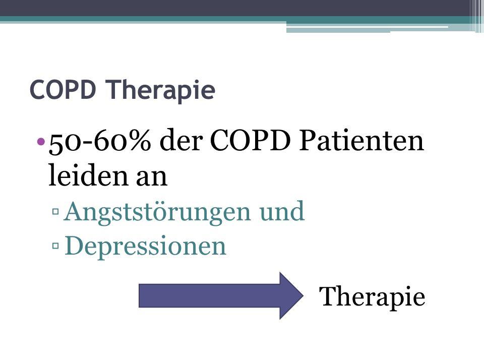 50-60% der COPD Patienten leiden an