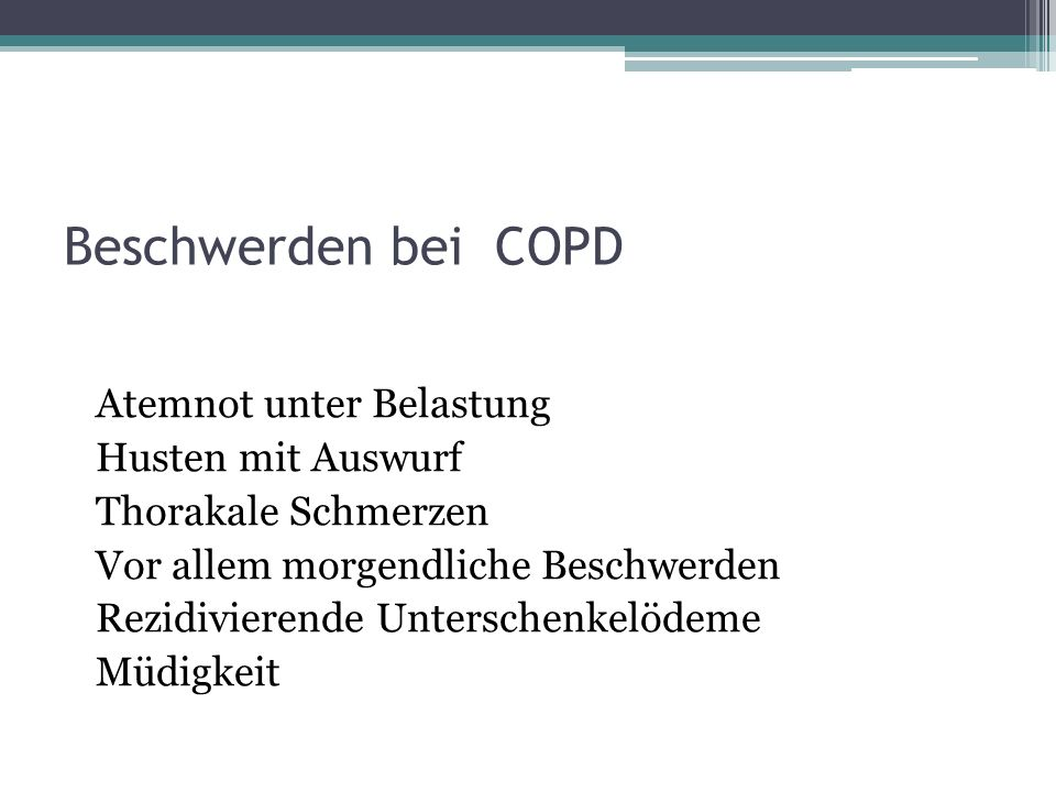 Beschwerden bei COPD