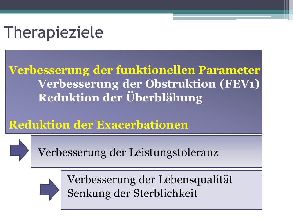 Therapieziele Verbesserung der funktionellen Parameter