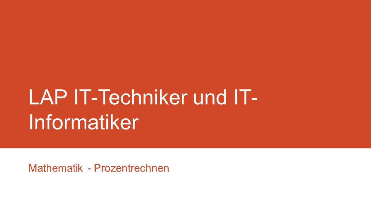 LAP IT-Techniker und IT-Informatiker