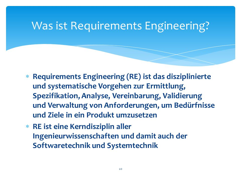 Was ist Requirements Engineering