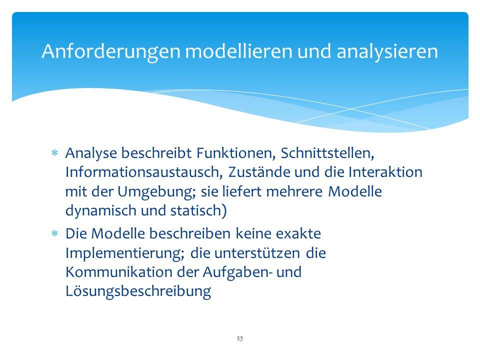 Anforderungen modellieren und analysieren