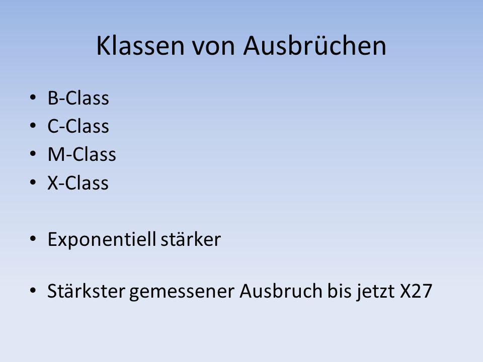 Klassen von Ausbrüchen