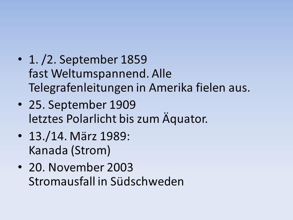1. /2. September 1859 fast Weltumspannend
