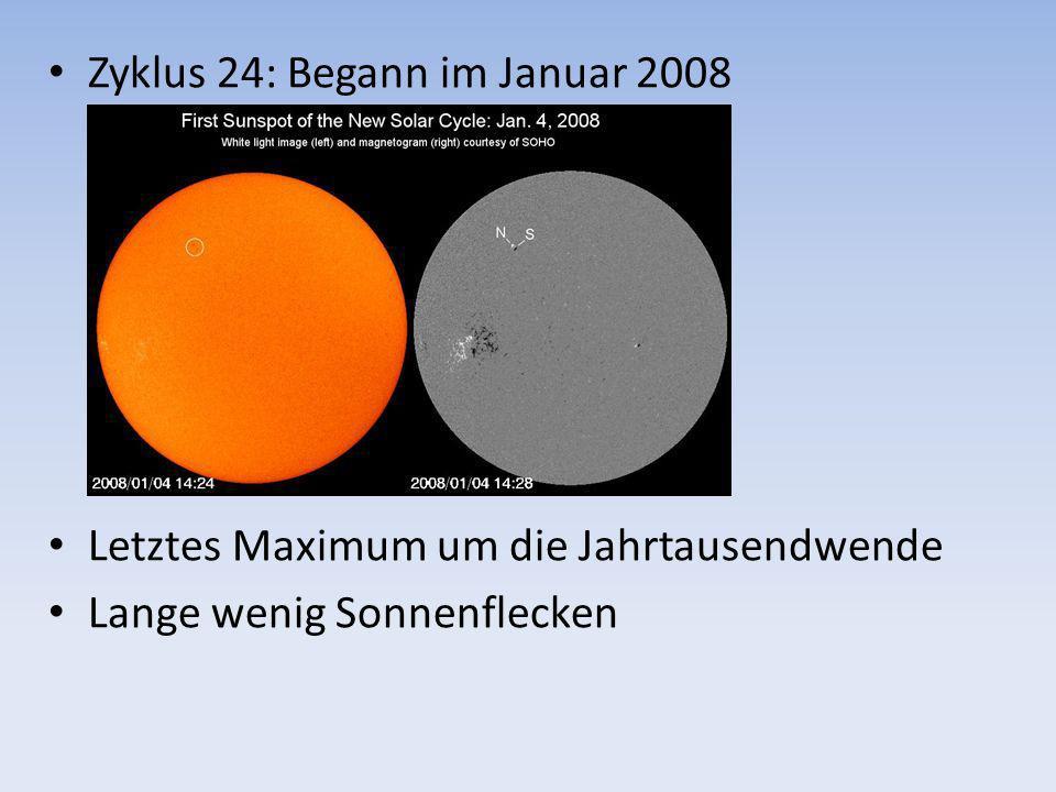 Zyklus 24: Begann im Januar 2008