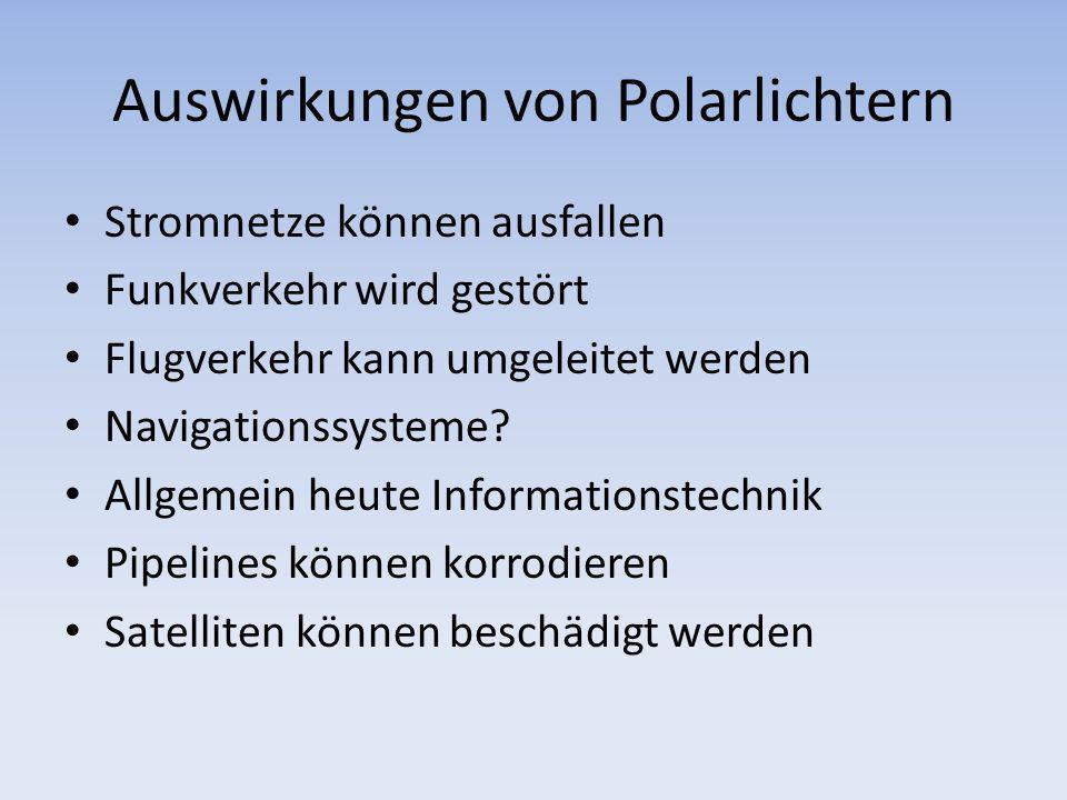 Auswirkungen von Polarlichtern