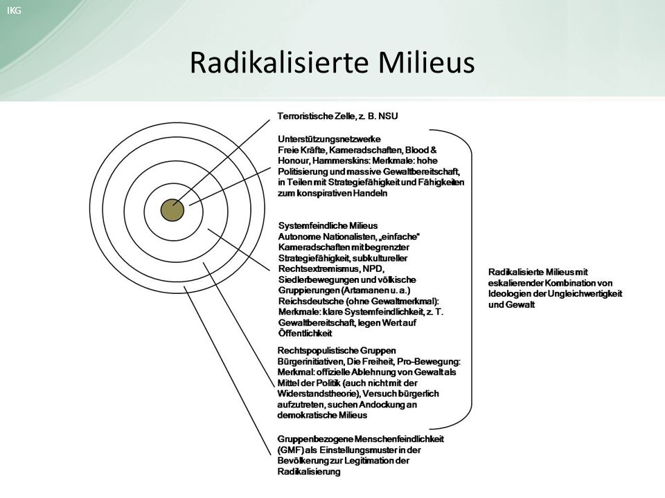 Radikalisierte Milieus